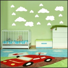 Set of CLOUDS  WALL STICKER Children Nursery Room Home Decal Art Sticker Removable Vinyl Murul 3 size clouds Wall Ppaer S-25