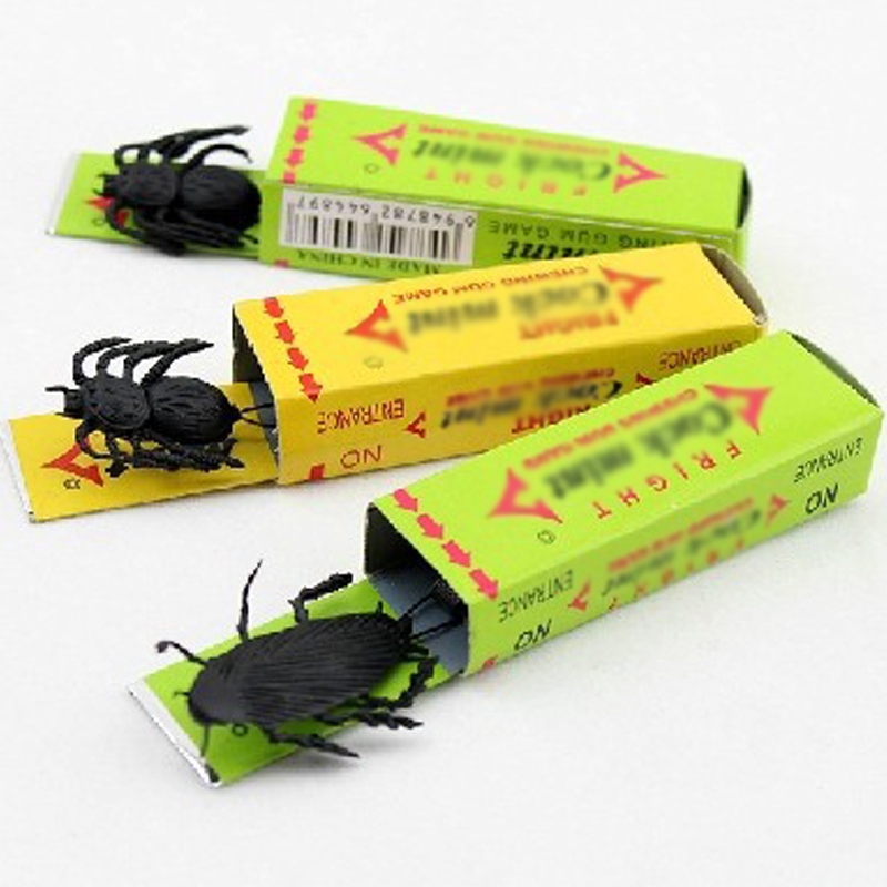 Funny Joke Simulated Chewing Gum Cockroach Prank Scary Toys For Children Kids Interactive Toys For April Fool Halloween Gift