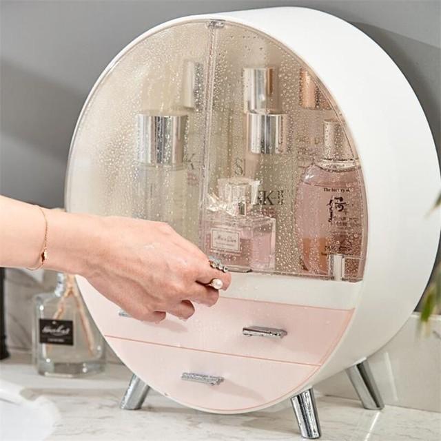 Home Fashion Drawer Makeup Storage Box Bathroom Brush Lipstick Holder Desktop Acrylic Jewelry Cosmetic Skin Care Organizer Rack 2