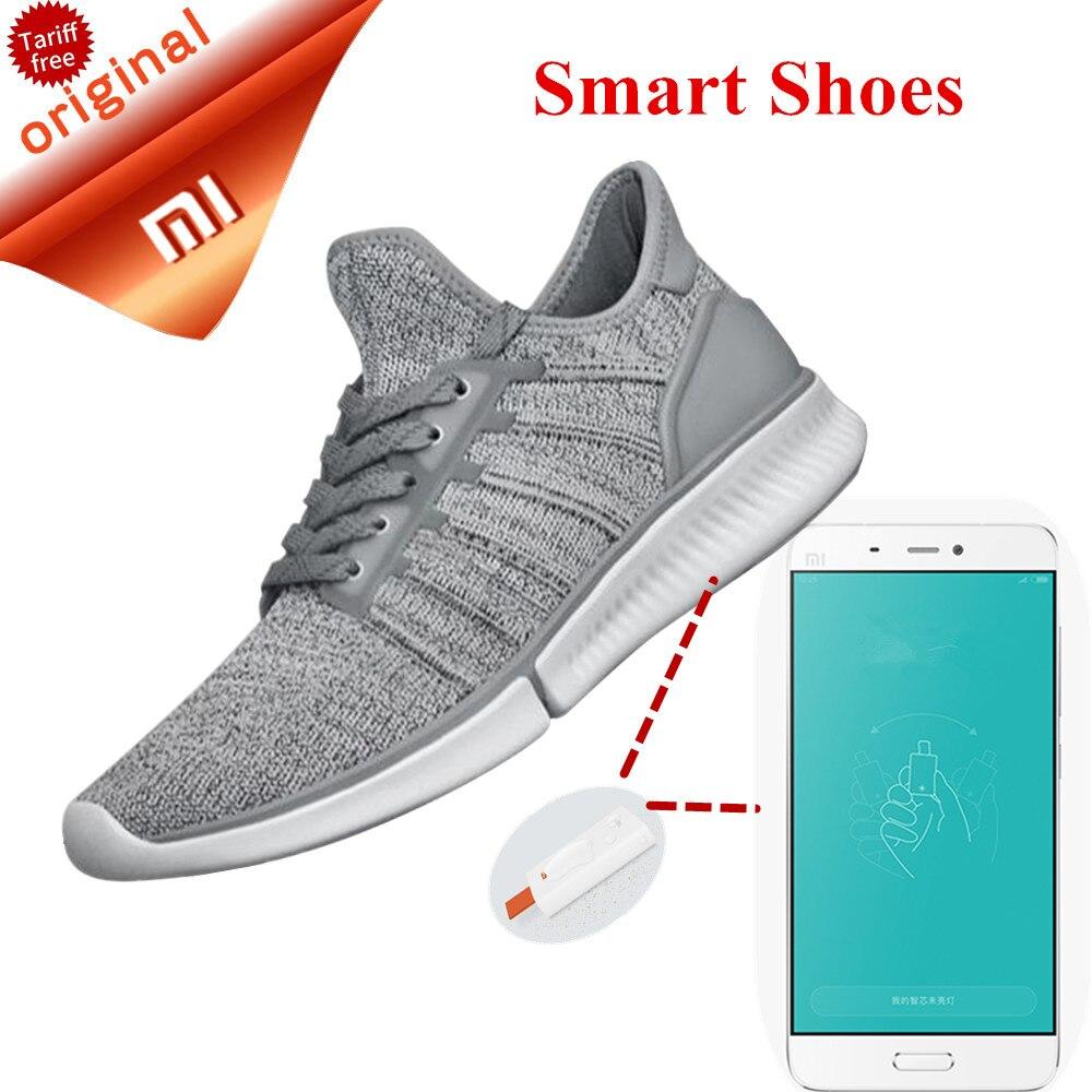 imágenes para Moda Original Xiaomi Mijia Zapatos Inteligentes Reemplazable Inteligente Chip IP67 A Prueba de agua Zapatos de Control de APLICACIÓN de Teléfono Inteligente En Stock