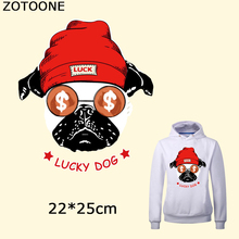 ZOTOONE Fashion Puppy Iron on Transfer Patch for Clothing Cartoon Animals Decors T Shirt Applications Clothes DIY Accessories