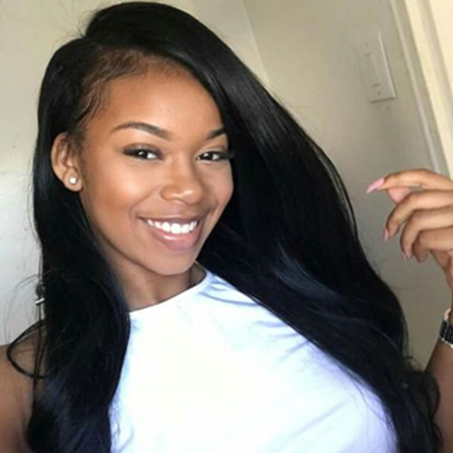 250% Density Indian Virgin Hair Glueless Full Lace Human Hair Wigs 7A Silky Straight Lace Front Human Hair Wigs For Black Women
