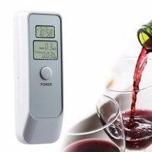 ЖК-цифровой алкотестер с двойным дисплеем Тестер спирта дыхания анализатор с часами