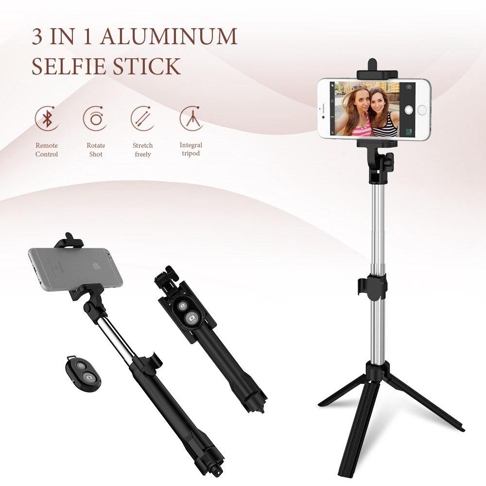 FLOVEME Treppiedi del Telefono Selfie Stick Bluetooth Pieghevole Selfiestick Per iPhone Android Per Samsung Xiaomi Huawei Telecomando Palmare