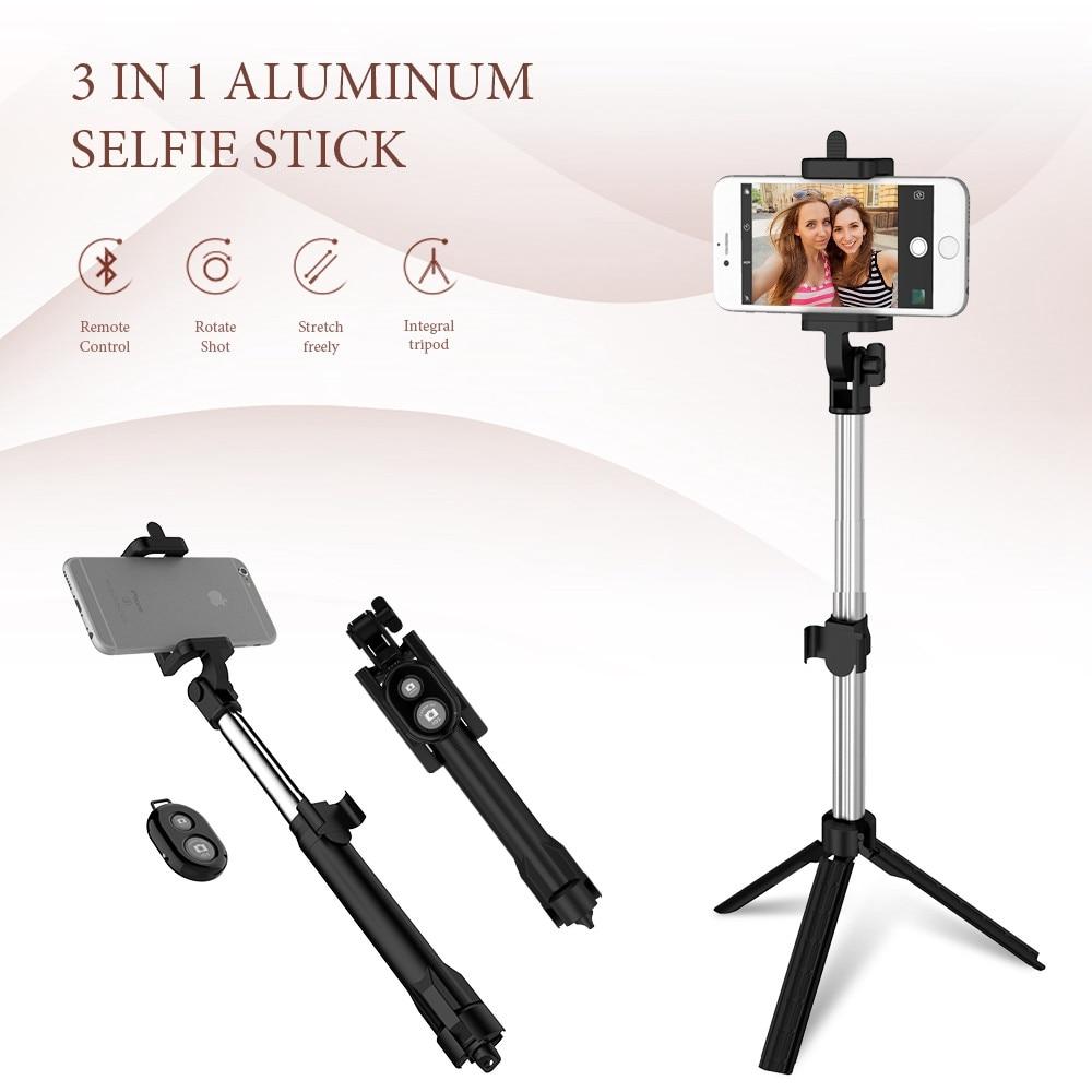Floveme teléfono trípode selfie stick Bluetooth plegable selfiestick para iphone android para Samsung xiaomi Huawei Remote handheld