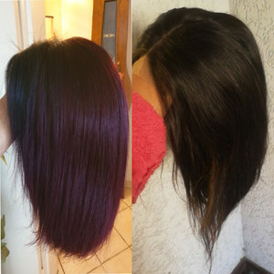 Image 4 - סוויטי 13x4 קצר בוב תחרה מול שיער טבעי פאה 150% גורל שיער טבעי פאות 1b/99J 1b/30 1b/350 ברזילאי ישר רמי שיער