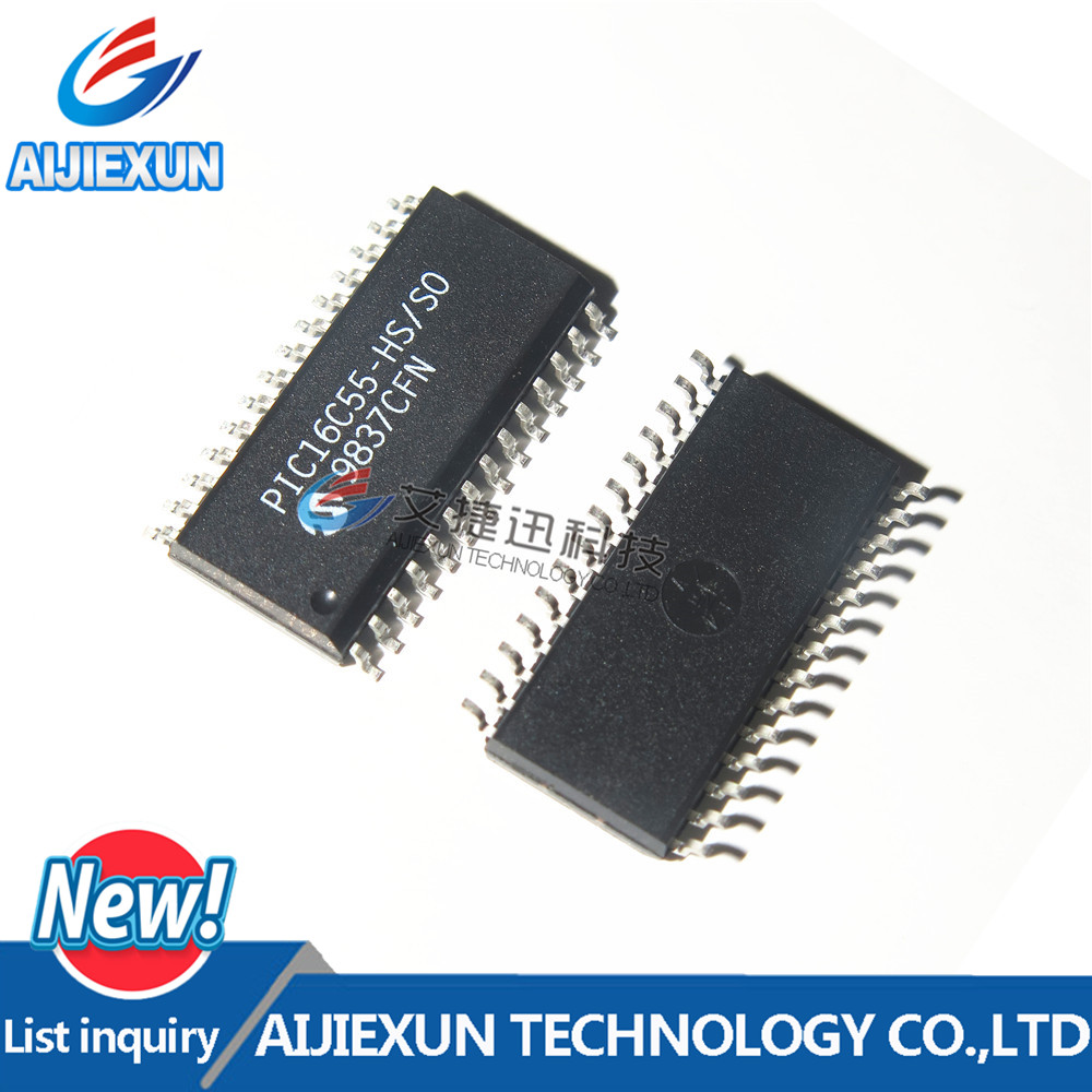 5Pcs PIC16C55-HS/SO SOP28 EPROM/ROM-Based 8-bit CMOS Microcontroller Series in stock 100%New and original