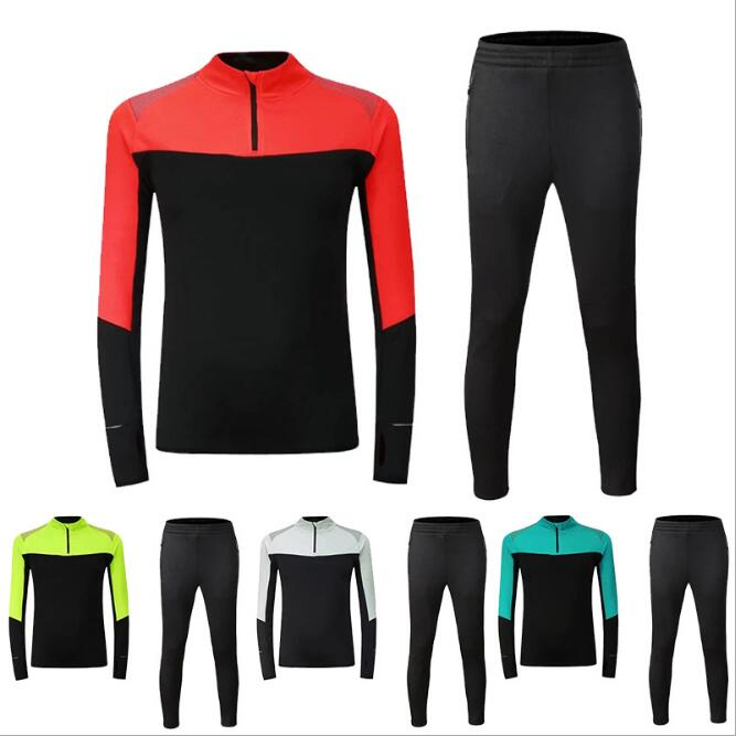 Autumn Winter New Half Zipper Mens Soccer Suits Outdoor Training Competition Jerseys Buy Individual Sports Long-Sleeved ZQF36