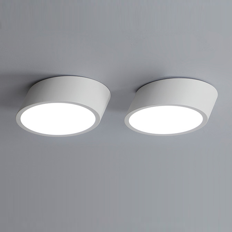 Modern surface mounted ceiling lamp LED panel White/Black for bathroom lighting AC110-240V luminarias para led ceiling lights for hallways bedroom kitchen fixtures luminarias para teto black white black ceiling lamp modern