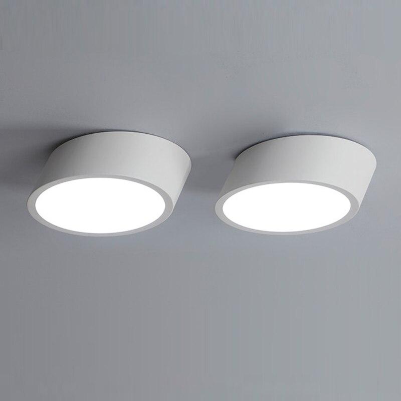 Us 6982 40 Offnowoczesne Do Montażu Na Suficie Lampa Led Panel Białyczarny Do Oświetlenia łazienki Ac110 240v Luminarias Para W Oświetlenie
