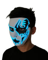 Wholesale 10 pcs halloween Mask 10 colors Select Cosplay Glow LED Mask Dance DJ Bar Night Club For Party Decoration