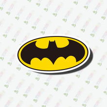 2016 new 2016 new hot 3pc Batman tag reflective Wall Sticker decoration  for Walls, computers sticker and so on