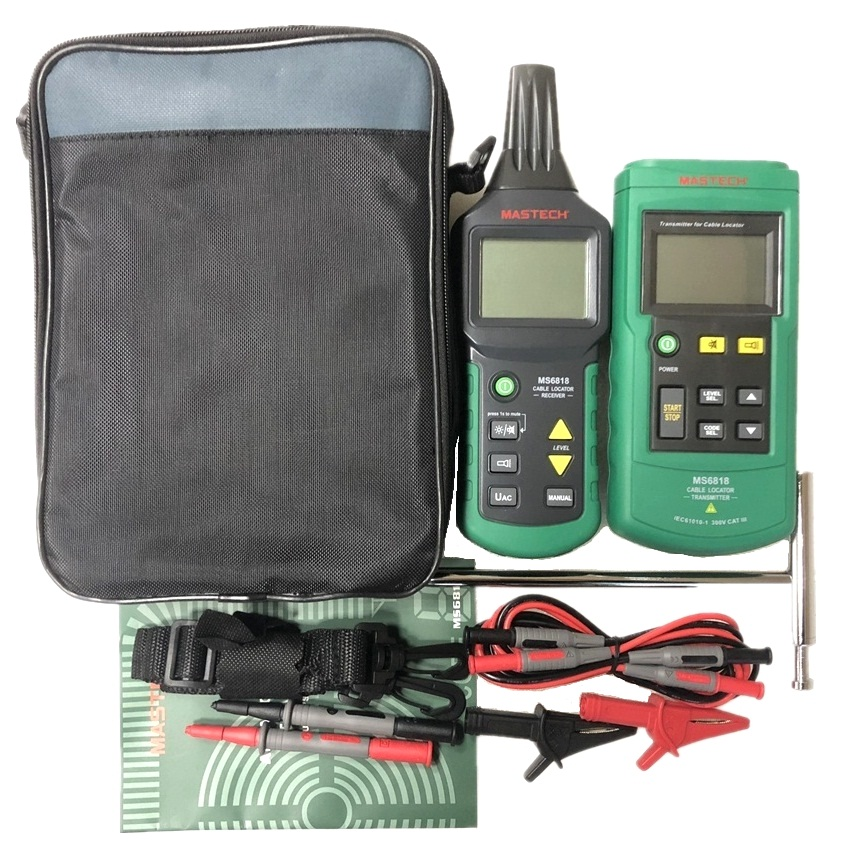 Image 5 - Mastech MS6818 Portable Professional Wire Cable Tracker Metal Pipe Locator Detector Tester Line Tracker Voltage12~400Vdetector metal detectormetal detectormetal locator -