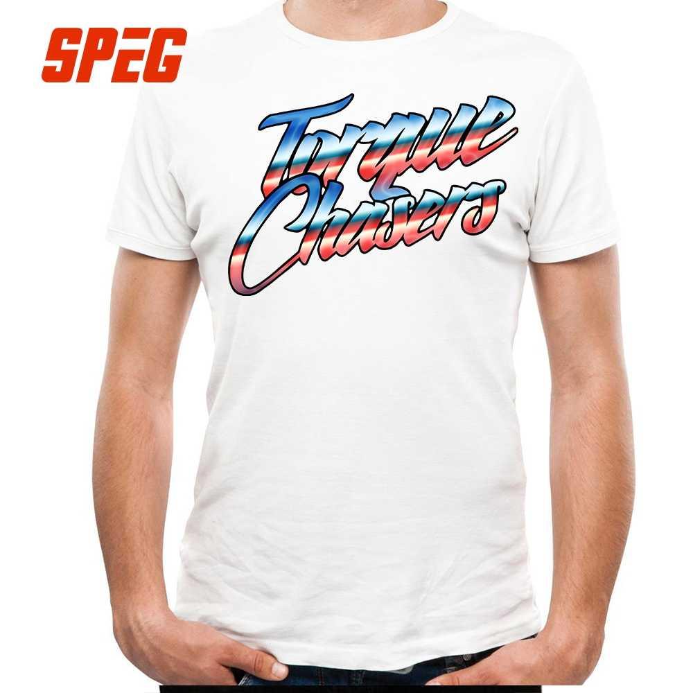 T-Shirts Großhandel Drehmoment Verfolger Retro text Turbo Plain T Shirt männer O Hals Kurzarm T Neue Marke Männer lustige T Shirt Druck