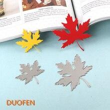 Duofen 2018 년 5 월 새로운 창조적 인 잎 scrapbooking을위한 금속 절단 다이스 스텐실 스탬핑 다이 커트 종이 공예 카드