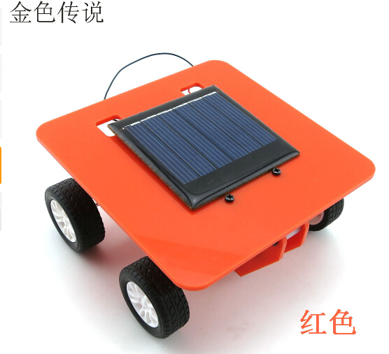 F17917/20 Self assembly Mini Solar Powered DIY Car Kit Children Educational Toy Gadget Gift 4 color Hot Selling