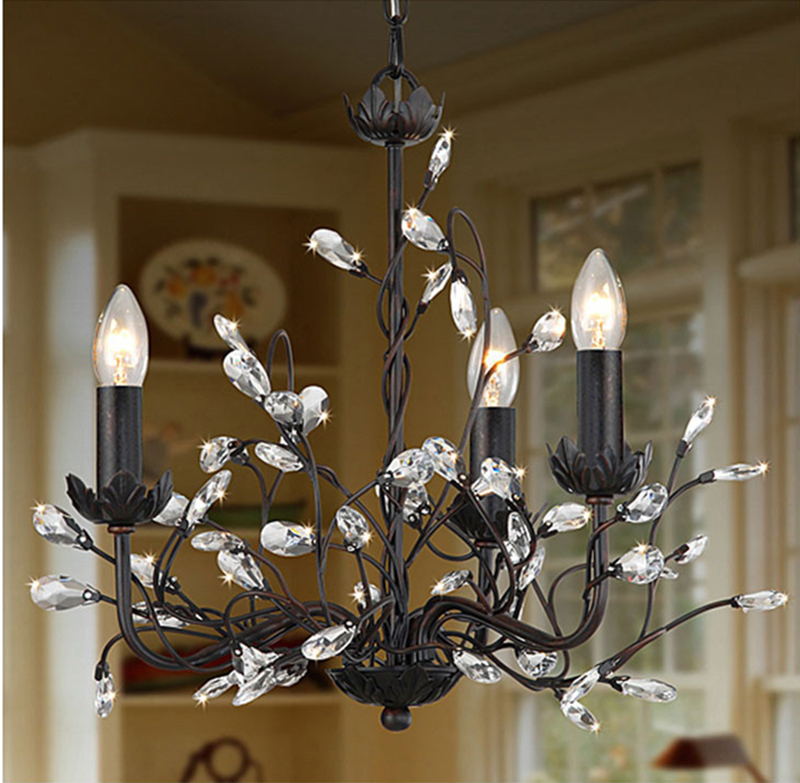 European Style Creative Crystal Chandelier Fashion Vintage lustres Crystal Light Modern Home Lighting Home Decorations