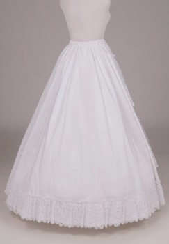 Vanessa Lacy Cotton Victorian Skirt  Victorian French Pleated Gathered Bustle Skirts
