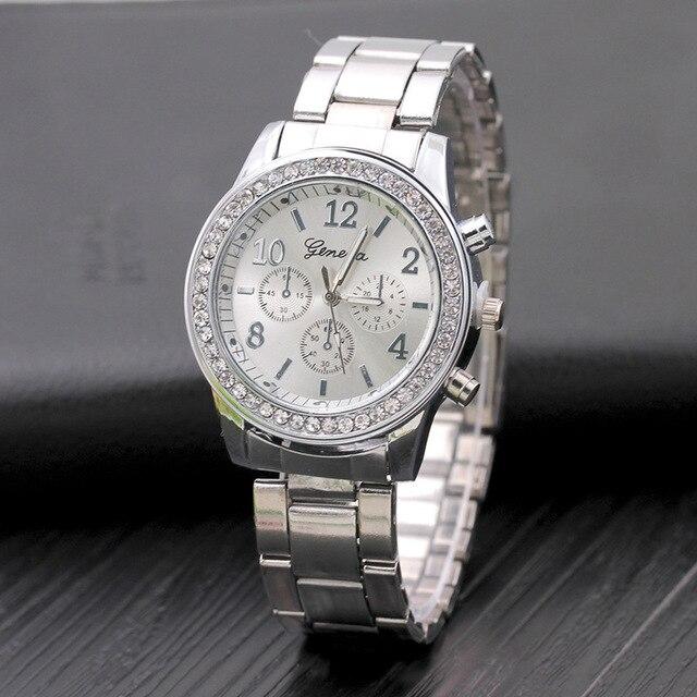 2019 mode robe montres femmes hommes Faux chronographe Quartz plaqué classique rond cristaux montre relogio masculino horloge décontractée