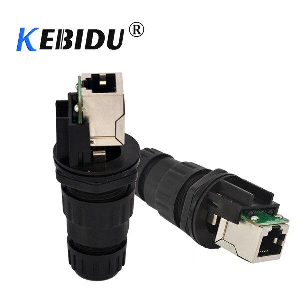 kebidu 10pcs lot RJ45 CAT5 CAT6 IP68 Waterproof wire connectors adapter Plug Socket