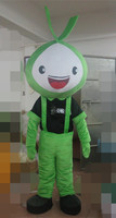 lovely green doll mascot costumes