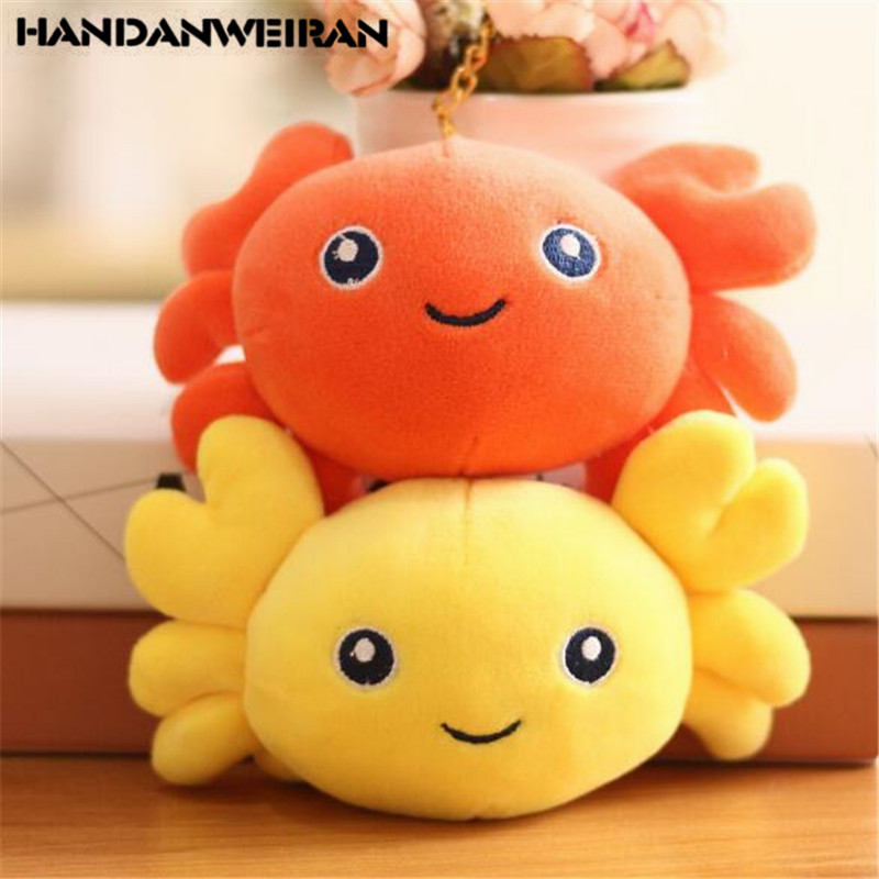 1PCS Mini Plush Crabs Toy Small Pendant Creative Girl Heart Soft Stuffed Crab Toys Boutique Holiday Wedding Gift For Kids 16CM