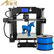 Бесплатная 1 рулон нити рождественские подарки Анет A6 impresora 3D Full акриловая рамка 3D принтер DIY RepRap Prusa i3 3D принтер 16 ГБ SD карты