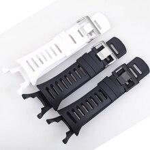35 mét Silicone Dây Đeo Watchband cho SUUNTO Phạm Vi 1 2 3 2R 2 s Màu Đen Trắng Đồng Hồ Đeo Tay Thể Thao Người Đàn Ông Cao Su dây đeo cổ tay Đồng Hồ Vành Đai