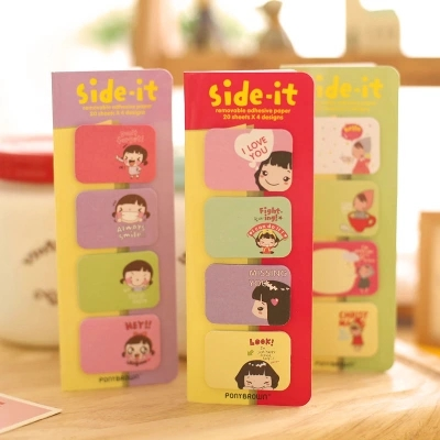 4pcs/set Cute Cookies Girl N stick Notes Posted Memo Pad Kawaii stationery Stickers Stationery stickers in notebook 6561