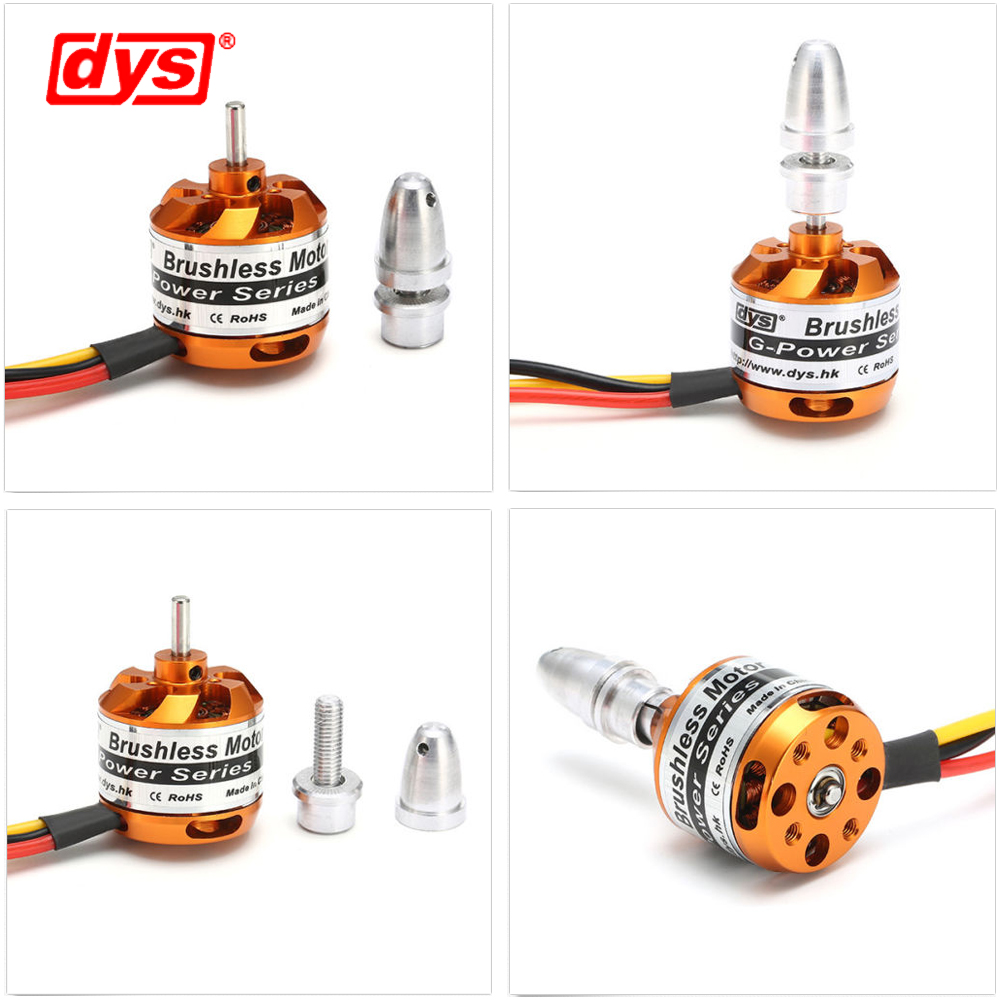 4pcs lot DYS D2826 930KV 1000KV 1400KV 2200KV Brushless Motor For RC Airplane Remote Control Model