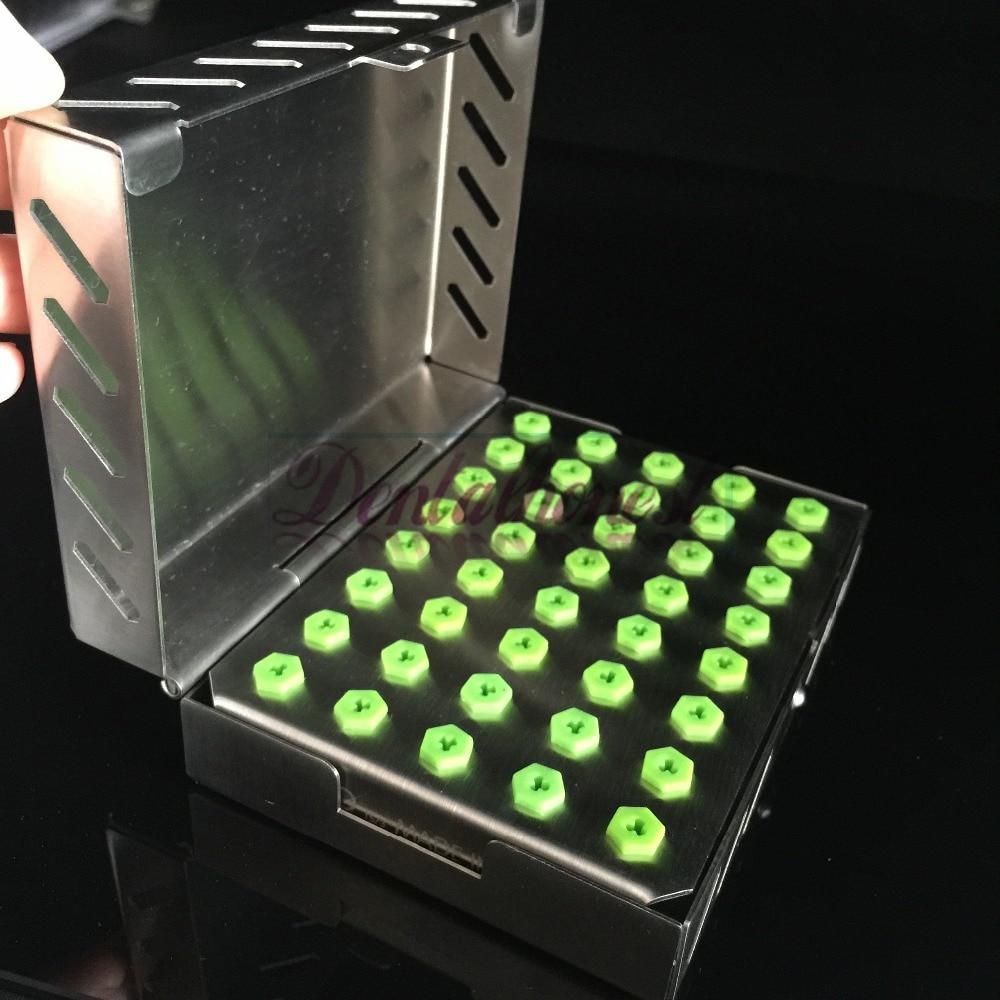 Dental Implant Bur Drill Tool Sterilization 40Holes Organizer Cassette Kit Box Tray with Stainless Case Holder электроинструмент sparky bur 131e