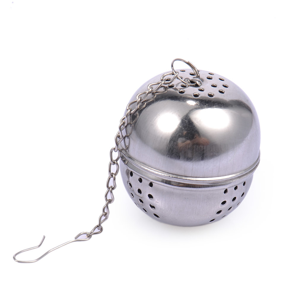 1PC Stainless Steel Mesh Tea Infuser Ball Tea Egg Tea Maker Leaf Spice Strainer With Chains Kitchen Gadget Tools Dia 4cm