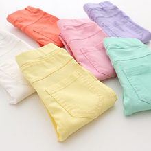 High Quality Spring Summer Fashion Children Pants Candy Color Pencil Girls Pants(China)