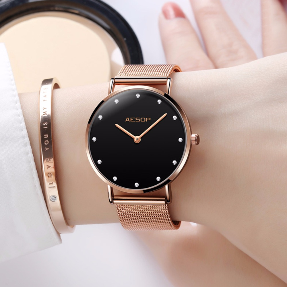 OLEVS Women Rose Gold Watches Female Watch Luxury Brand Stainless Steel Lady Wristwatch Ladies Quartz Clocks reloj mujer 2018 2018 women dress watches luxury brand ladies quartz watch stainless steel mesh band casual gold bracelet wristwatch reloj mujer