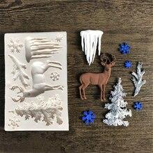 Силиконовая форма для торта в виде лося/ледника/рождественской елки, формы для шоколадных конфет, формы для печенья, выпечка бисквитов, формы для выпечки тортов D008