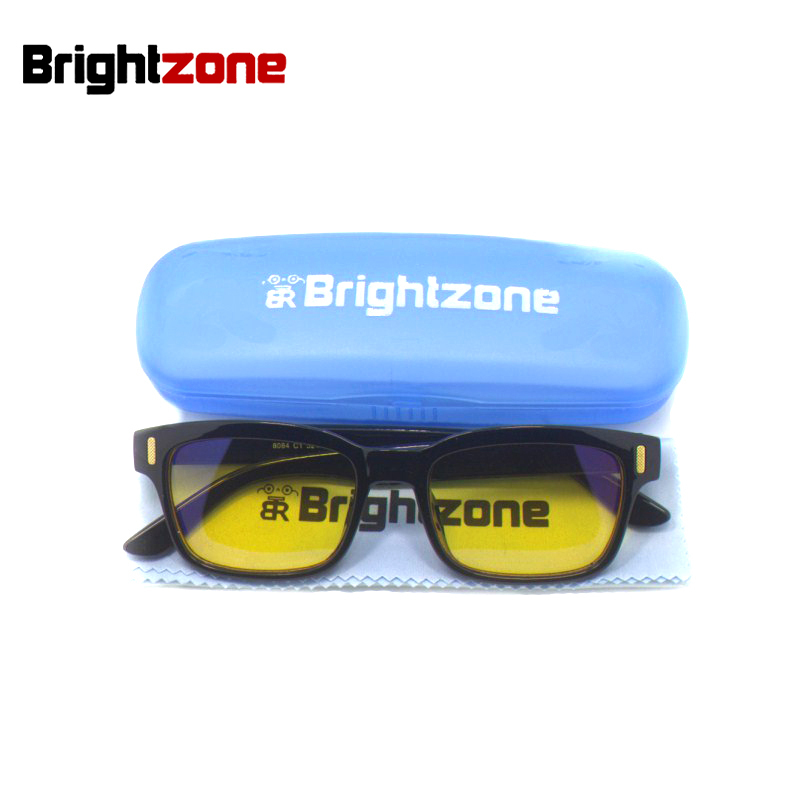 Brightzone New Anti-Fatigue & UV Blocking Blue Light Filter Stop Protección de la fatiga ocular Estilo de juego Marco Gafas de computadora Hombres
