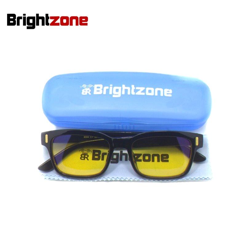 Brightzone Neue Anti-Müdigkeit & UV-Blockierung Blaulichtfilter Stop Auge Strain Protection Gaming Style Rahmen Computer Brille Männer