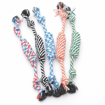 Dogs Funny Chew Button Cotton Bone Rope Pet Toys Accessories For Small Dog Puppy