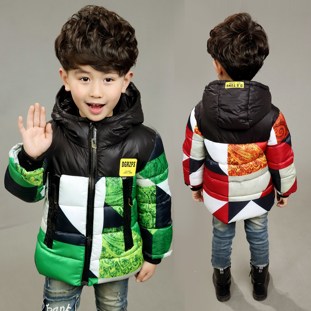 The boy in the long winter coat child child Mianfu baby thick jacket Hooded the one in a million boy