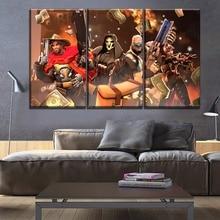 цены Game Poster High Quality Canvas Print Artwork Modern Home Decorative Living Room Or Bedroom Wall 3 Piece Overwatch Hero Painting