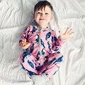 Весна и Autumnm Новорожденный Мальчики девочки с длинным рукавом Rompers Комбинезон Наряды детские бутик одежда