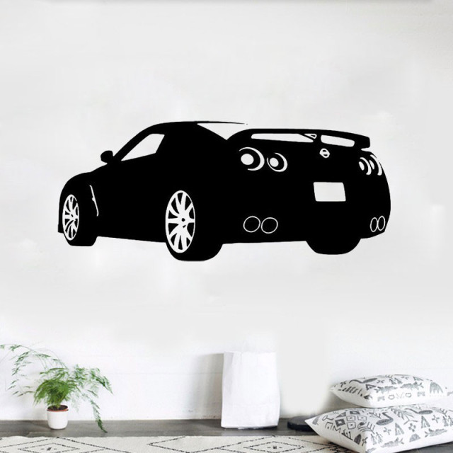 Race Sports Car Wall Decal Decor Sticker Art Vinyl Mural Nissan Gtr Automotive  Decals Auto Decals