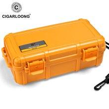 CIGARLOONG NEW COHIBA Yellow Cigar Box Moisturizing Portable Waterproof Humidly Set Humidor Case CLA-0082