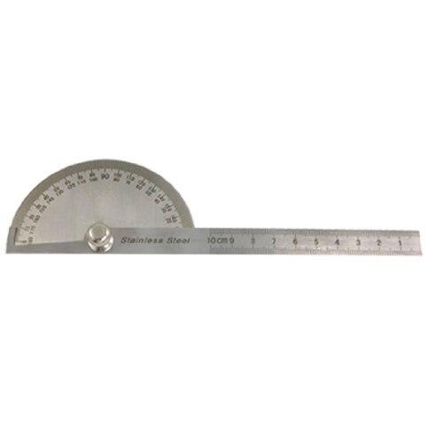 SOSW-Hot Sale Gray Metal Rotating 180 Degree Measure Protractors Metric Ruler