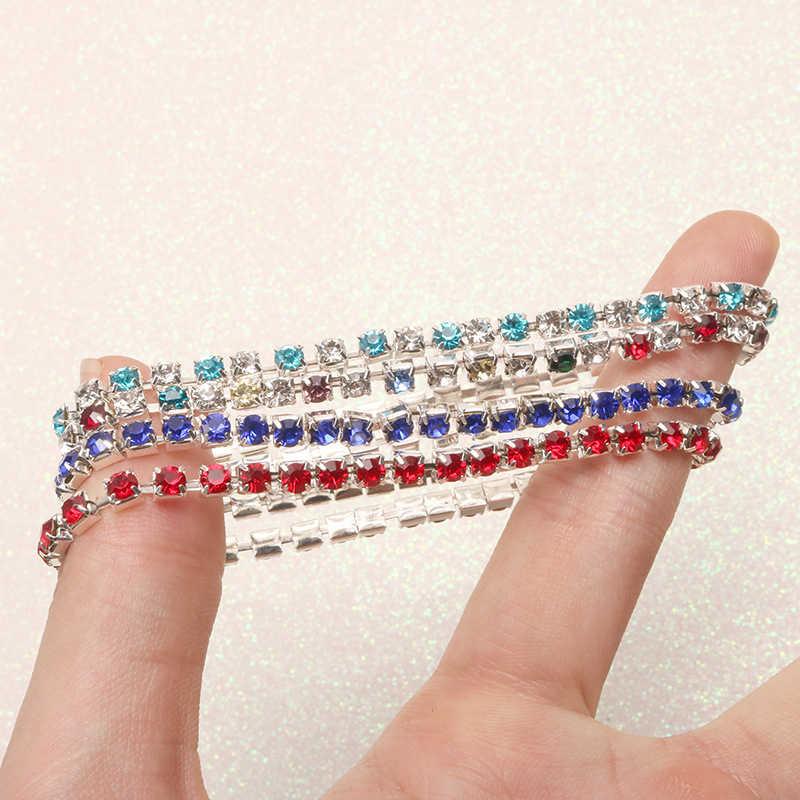 เงาคริสตัลสร้อยข้อมือผู้หญิง Link Chain หญิง Elegant Wedding Party เครื่องประดับของขวัญกำไลและกำไล