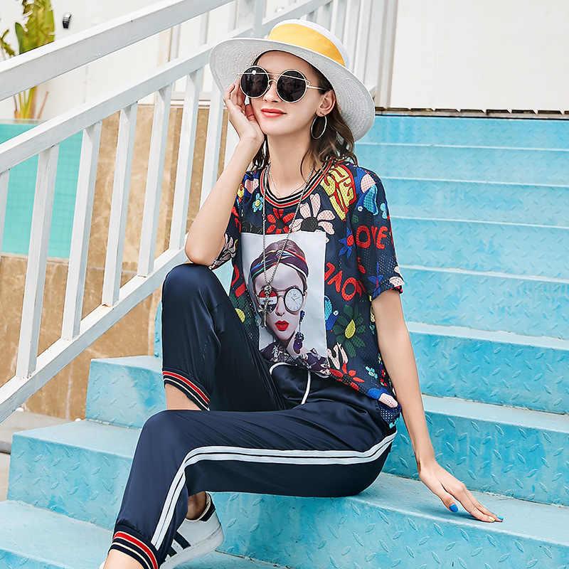 LORDXX Print Vrouwelijke koreaanse t-shirt Losse Toevallige Korte mouwen Hollow out Harajuku trends vrouwen O hals vrouwen 2019 zomer elegante