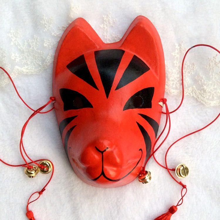 Modestil Vollgesichts Hand Bemalt Putz Die Licht Der Glühwürmchen Kinn Rotes Gesicht Cosplay Fox Mask Party Halloween Schmerzen Haben