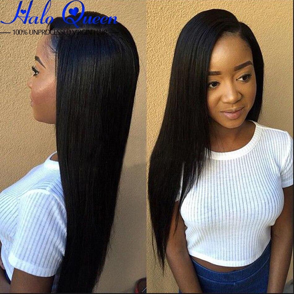 Peruvian Virgin Hair Straight One Bundle 8a Natural Black
