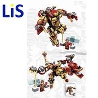 SYMK42 Superhero Marvel Avengers Chrom Iron Man MK42 Movie Building Blocks Action Figure Sets Model Brick