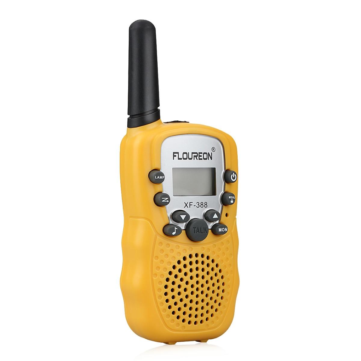 Floureon 1 Para 8 Kanal Walkie Talkies Uhf400-470mhz Lcd Display Amateur Zwei-weg Radio Schwarz Mini Kinder Radio Retevis Türsprechstelle Sicherheit & Schutz
